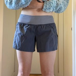 Lined lululemon grey shorts